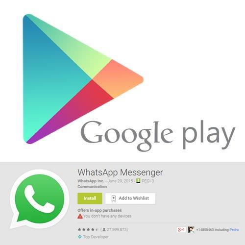 WhatsApp para Android : Siempre actualice versión desde Google Play